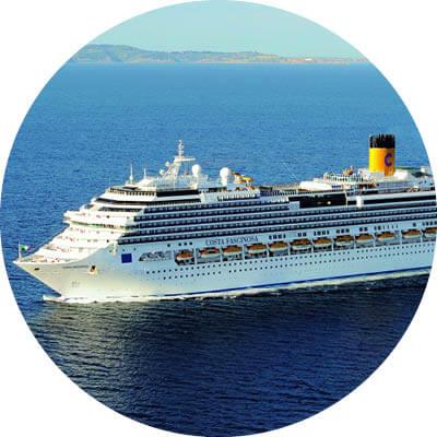 Sehr altes Costa Schiff