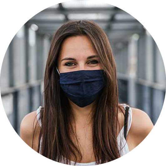 MSC Gesundheit Frau mit Maske