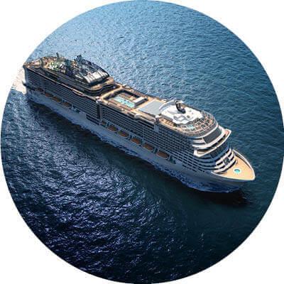 MSC Grandiosa auf dem Meer
