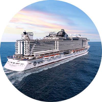 MSC Seaview auf dem Meer