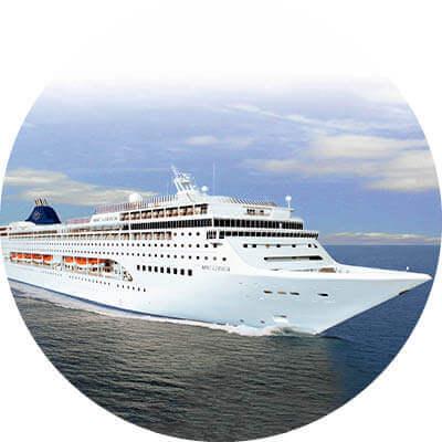 MSC Lirica auf dem Meer