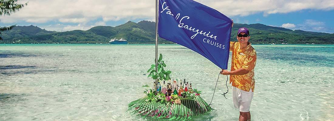 All inclusive Paul Gauguin Cruises Floating Bar