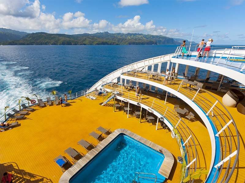 Reedereien Kreuzfahrten Aranui 5 Pool Deck