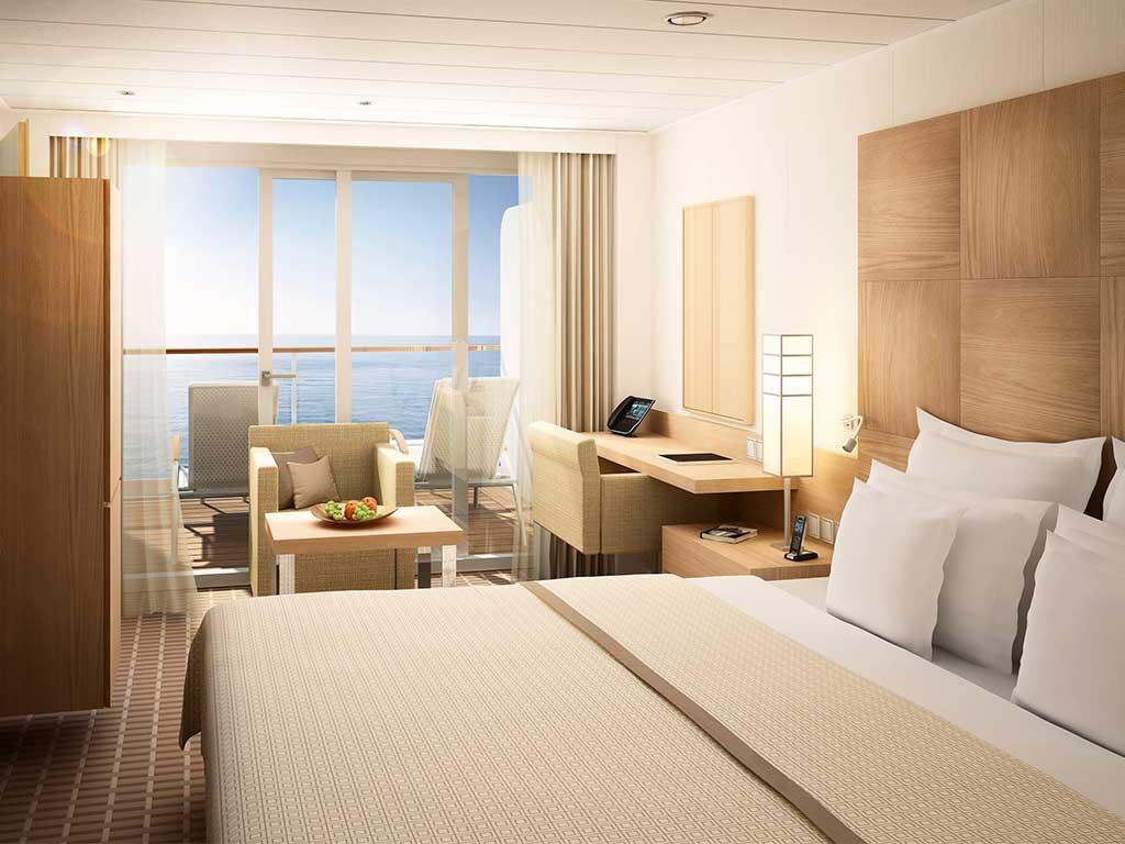 Reedereien Kreuzfahrten Hapag-Lloyd Cruises Europa2 Familien-Appartement