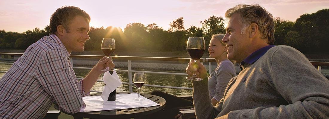 Flussreisen A-Rosa Abendstimmung