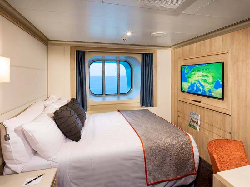 Solo auf Tour Holland America Line Koningsdam Ocean View Cabin